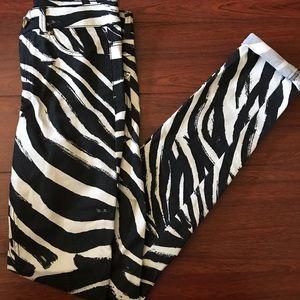 NWT HM Zebra Print Pants Sz 4 (Slim fit)